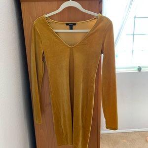 Golden polyester tight dress